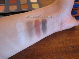 (No flash) Shadows from left to right: Vanilla, Warm Taupe, Sienna, Deep Brown, and Nude