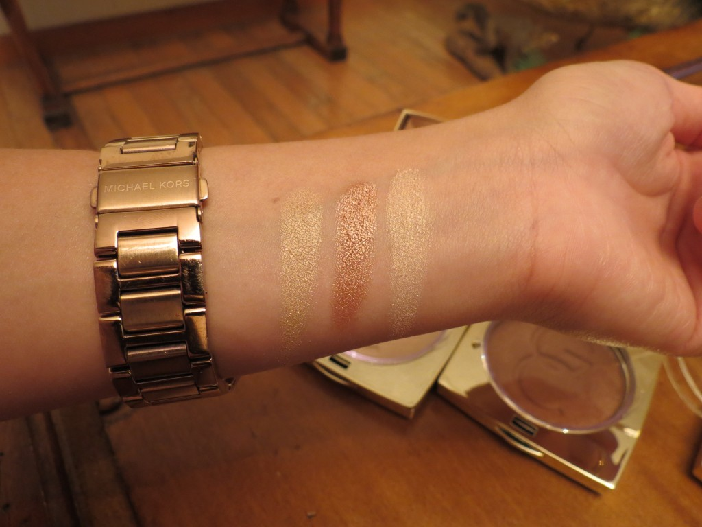 Swatches from left to right: Marilyn, Lucy, and Audrey (Without flash)